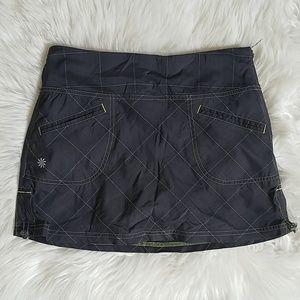 Athleta Tulum Plaid Grey Skort Skirt